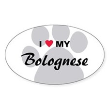 I Love My Bolognese Decal