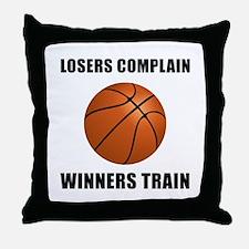 Basketball Winners Train Throw Pillow