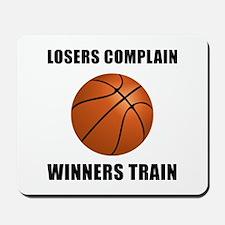 Basketball Winners Train Mousepad