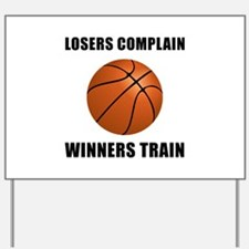 Basketball Winners Train Yard Sign