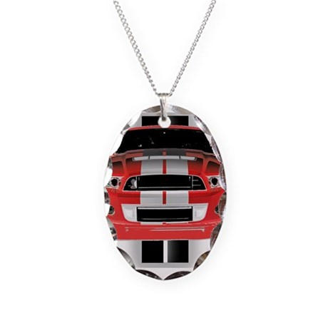 New Mustang GTR Necklace Oval Charm