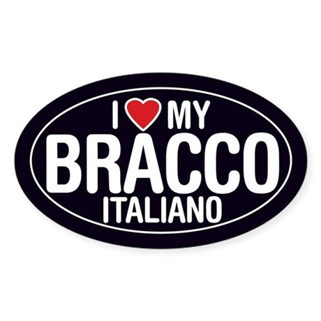 I Love My Bracco Italiano Oval Sticker/Decal