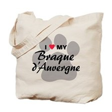 Love My Braque d'Auvergne Tote Bag