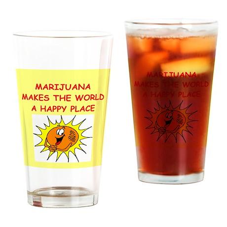 marijuana Drinking Glass