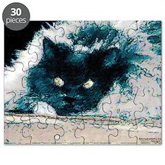 Psycho Cat Picture Puzzle