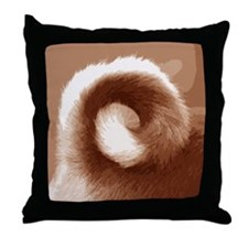 Basenji Tail Throw Pillow