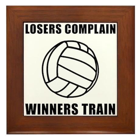 Volleyball Winners Train Framed Tile