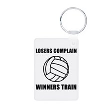 Volleyball Winners Train Keychains