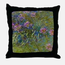 Monet - Agapanthus Throw Pillow