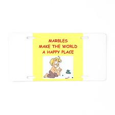 marbles Aluminum License Plate