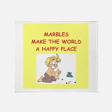 marbles Throw Blanket