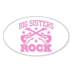 Big Sisters Rock Sticker (Oval)