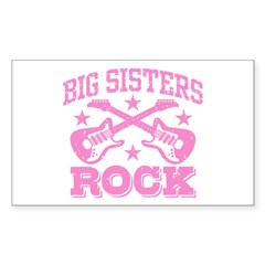 Big Sisters Rock Sticker (Rectangle)