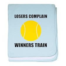 Tennis Winners Train baby blanket