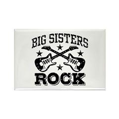 Big Sisters Rock Rectangle Magnet