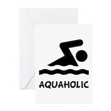 Aquaholic Swimmer Greeting Card