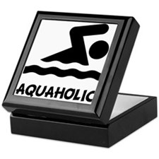 Aquaholic Swimmer Keepsake Box