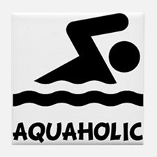 Aquaholic Swimmer Tile Coaster