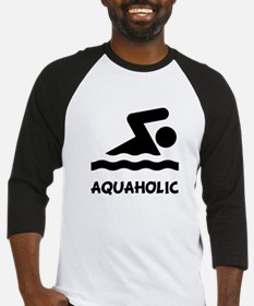 Aquaholic Swimmer Baseball Jersey