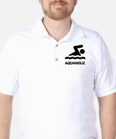 Aquaholic Swimmer T-Shirt