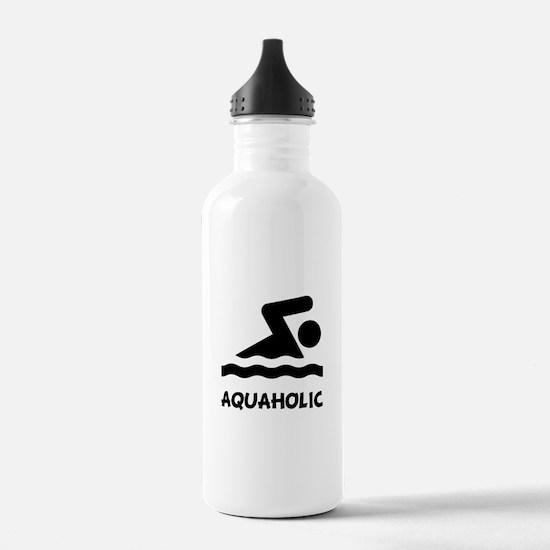 Aquaholic Swimmer Water Bottle