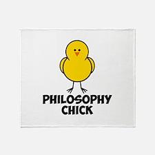 Philosophy Chick Throw Blanket