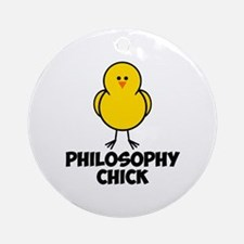 Philosophy Chick Ornament (Round)