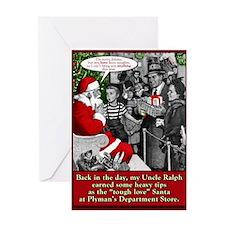 """Tough Love"" Santa Greeting Card"