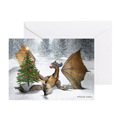 Dragon Christmas Tree Greeting Card (Pk Of 10)