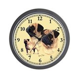 Pug Wall Clocks