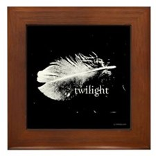 Twilight Feather by Twibaby Framed Tile