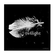Twilight Feather by Twibaby Tile Coaster