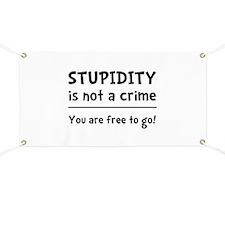 Stupidity Crime Banner
