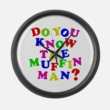 Do you now the Muffin Man? Large Wall Clock