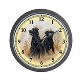 Clock black labrador Wall Clocks
