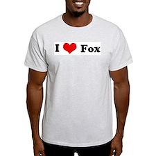 I Love Fox Ash Grey T-Shirt