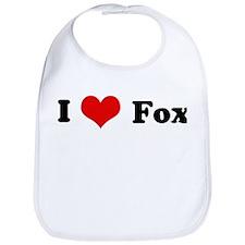 I Love Fox Bib