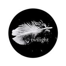 """Twilight Feather by Twibaby 3.5"""" Button"""