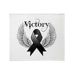 Victory Melanoma Throw Blanket