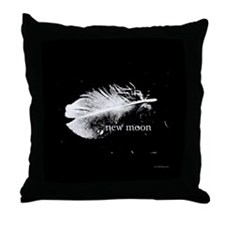 New Moon Feather by Twibaby Throw Pillow