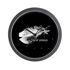 New Moon Feather by Twibaby Wall Clock