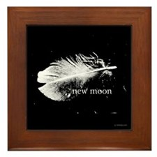 New Moon Feather by Twibaby Framed Tile