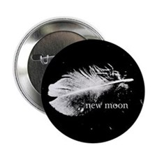 """New Moon Feather by Twibaby 2.25"""" Button"""