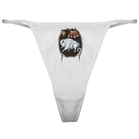White Buffalo Shield Classic Thong