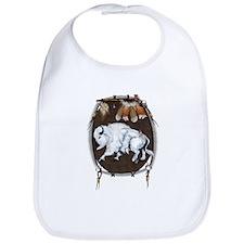 White Buffalo Shield Bib