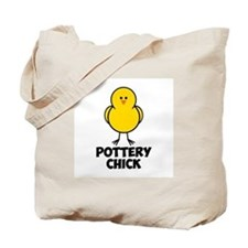 Pottery Chick Tote Bag