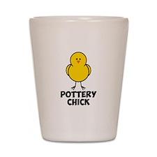 Pottery Chick Shot Glass