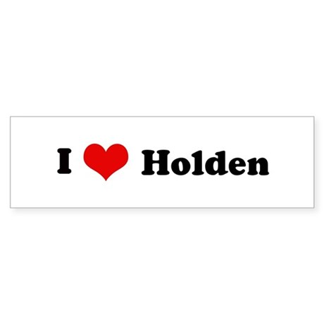 I Love Holden Bumper Sticker