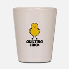 Quilting Chick Shot Glass