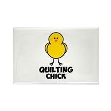 Quilting Chick Rectangle Magnet (100 pack)